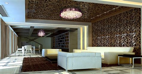 Ceiling Decorations For Living Room by Lobby Pillars And Ceilings Creative Ideas 3d House