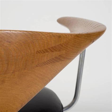 hans wegner swivel chair hans j wegner oak quot swivel chair quot with black leather seat