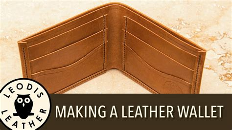 How To Make A Handmade Wallet - a handmade leather wallet doovi