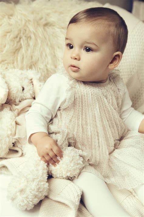 Bebeo More Beautiful Clothes From by Winter 2012 Pale Baby Dress With Sheer Overlay For