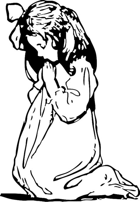 with children praying coloring page