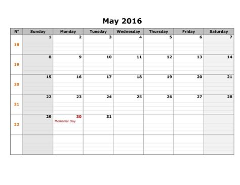 template of calendar may 2017 weekly printable calendar blank templates