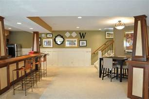 Ideas Basement Wall Colors Endearing Lime Green Accents Wall Paint For Contemporary Basement Idea Feat Gorgeous Dinner And