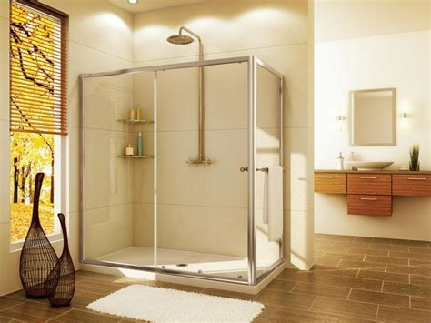 shower bath solutions shower door with return panel s