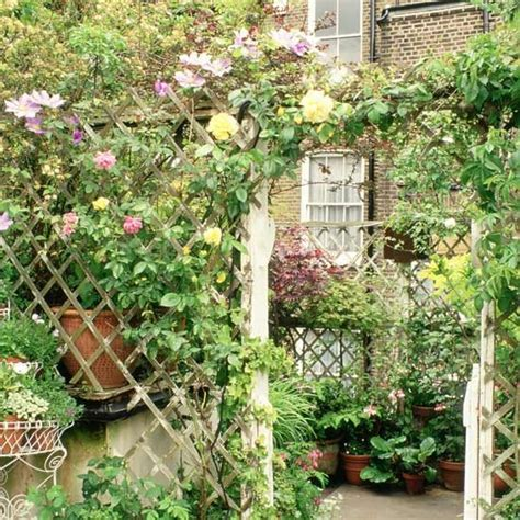 Garden Trellis Ideas Garden Trellis With Trailing Roses And Arch Garden