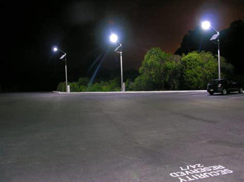 Solar Parking Lot Lights Solar Led Parking Lot Lights Save California Energy