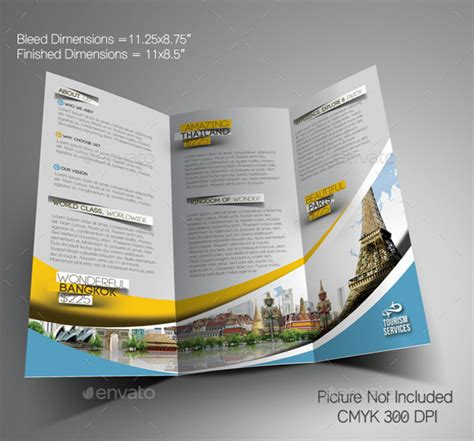 vacation brochure template download free premium