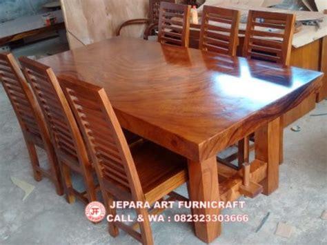 Meja Makan Solid Wood jual meja makan minimalis antik solid wood 6 kursi jari murah