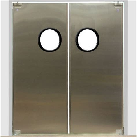 commercial kitchen double swing door eliason dsp 3 60 60 quot double door opening easy swing