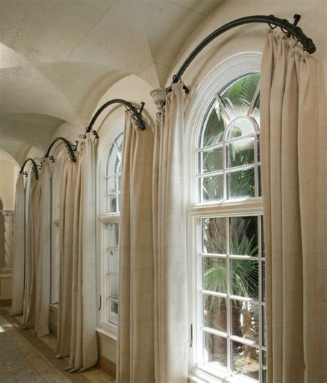 how to hang curtains on arched window arched window curtain rod arch window curtains to choose