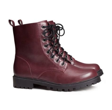 burgundy combat boots shoes boots lace up shoes combat boots burgundy