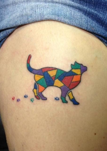 stained glass cat l 22 small cat tattoo ideas for ladies styleoholic