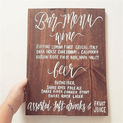 25 ideas about wedding bar menu on pinterest bar