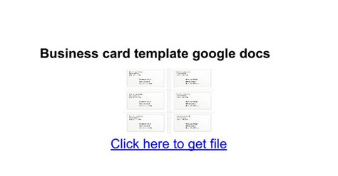 Card Template On Docs business cards template docs gallery card design