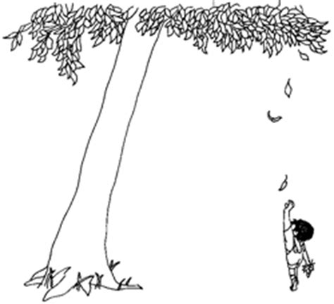 coloring page of the giving tree giving tree colouring pages