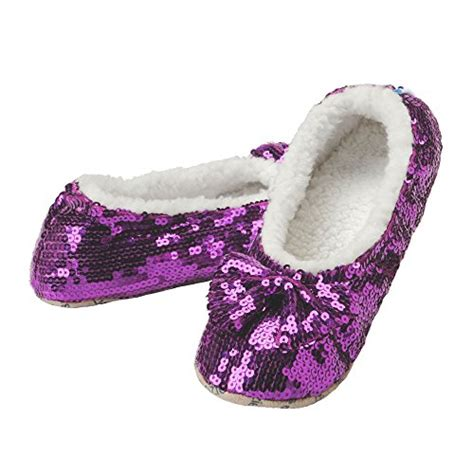 snoozies sequin slippers snoozies and tweens tone sequin slippers