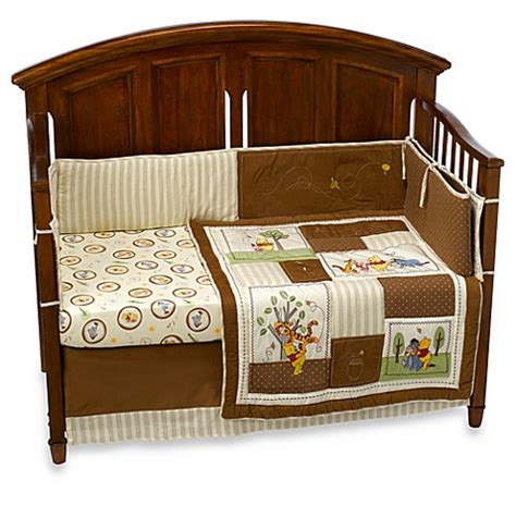 Winnie The Pooh Baby Crib Sets Winnie The Pooh Day In The Park 4 Crib Bedding Set Buybuy Baby