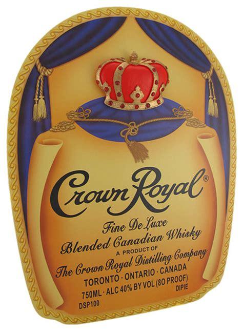 printable crown royal label crown royal bottle bag label 3d crown wood pub sign
