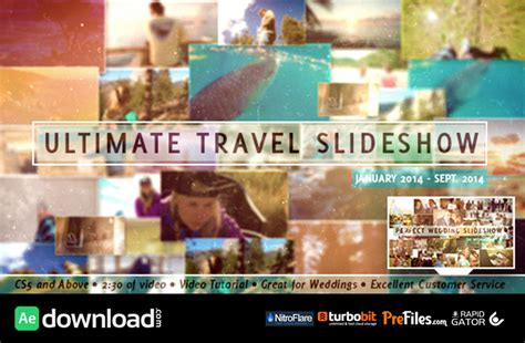 Videohive Ultimate Travel Slideshow Free Download Free Travel Slideshow After Effects Template