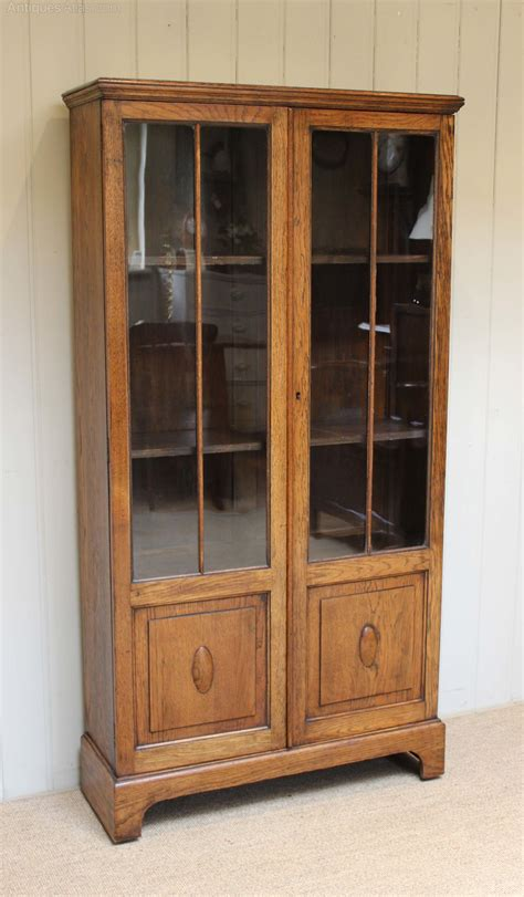 96 inch high bookcases two door part glazed oak bookcase antiques atlas