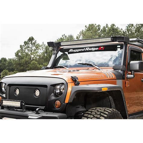 light bar jeep rugged ridge 11232 50 elite fasttrack windshield light