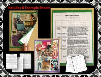 book report collage book report project character analysis collage by