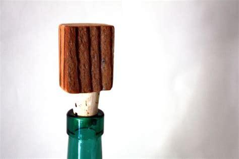 hand  reclaimed wood bottle stops wine stopper