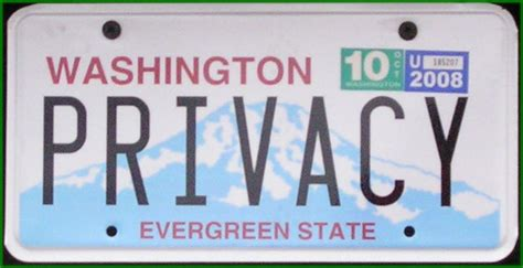 Washington State Vanity Plates Database posts erogonhomes