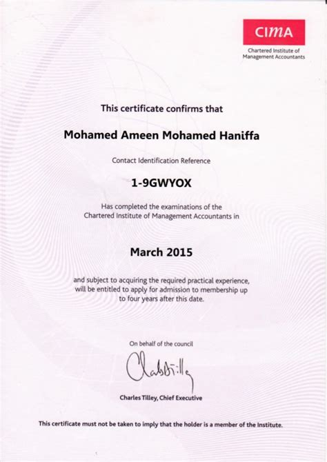 Mba Cima Top Up by 09 Cima Top Cima Certificate