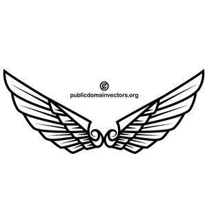 sayap clipart gratis domain publik vektor