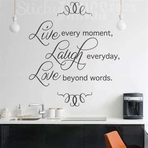 wall stickers south africa live laugh wall sticker quote decal from stickythings co za