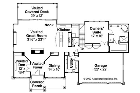 craftsman homes floor plans craftsman house plans pacifica 30 683 associated designs