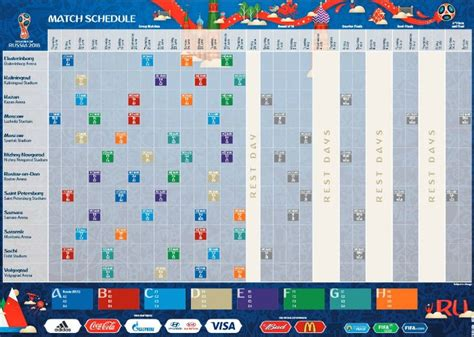 copa mundial 2018 horarios definidos los horarios en colombia para ver el mundial