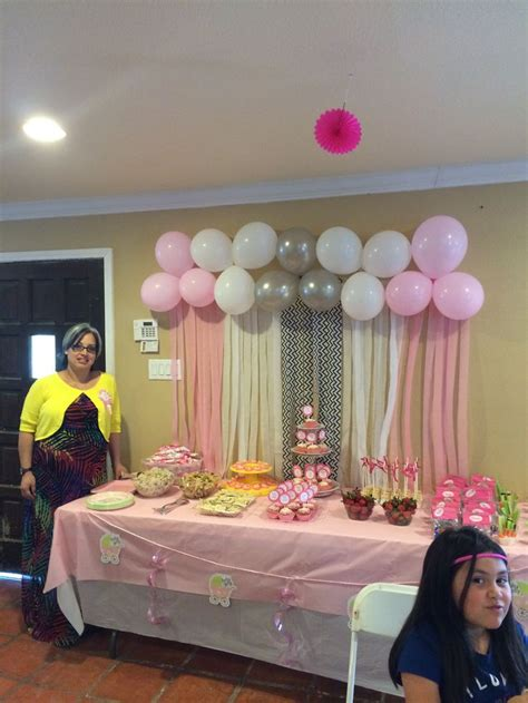 109 best images about baby shower ideas on balloon arch pink apples and baby