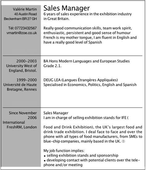 Pr Sentation Lettre Commerciale Anglais exemple de cv en anglais pour travailler dans l organisation d 233 v 233 nements l etudiant