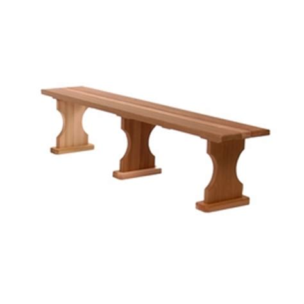 6 foot garden bench 6 backless wooden garden bench kit