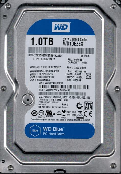 WD10EZEX 08WN4A0 DCM: HHRNHT2AHB WCC6Y Western Digital 1TB   eBay