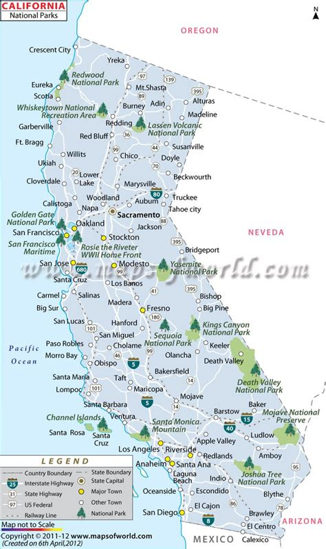 california map of national parks the national parks of california must visit places