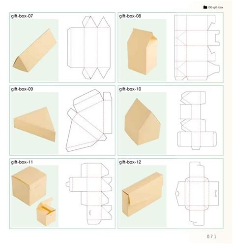 Templates For Gift Boxes | 96 best images about net packaging template on pinterest