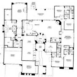 single story house plan one story 5 bedroom house floor plans pinterest
