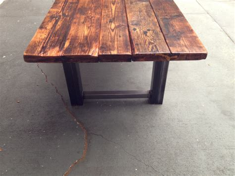 Recycled Timber Dining Tables Reclaimed Wood And Metal Dining Table