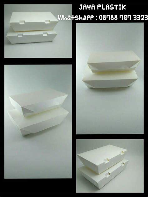 Lunch Box Kertas Ukuran Besar jual lunch box kertas ukuran medium jaya plastik