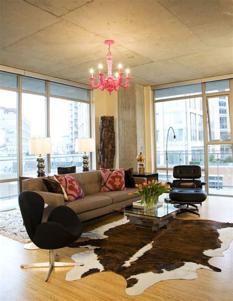 cowhide rug living room ideas