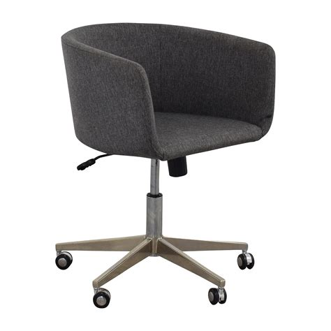 80 modern grey office chair with chrome wheels chairs