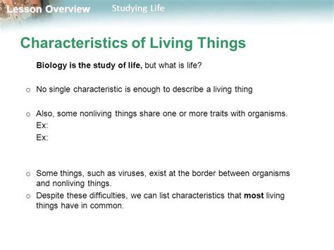 characteristics of biography what characteristics do all living things share know