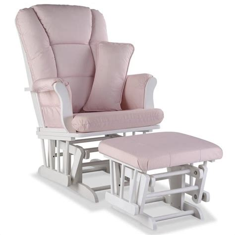 pink and white glider and ottoman custom glider and ottoman in white and pink blush 06554 571
