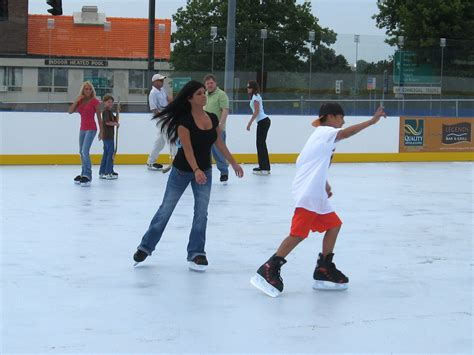 how to make a ice skating rink in your backyard file synthetic ice skating rink jpg wikipedia