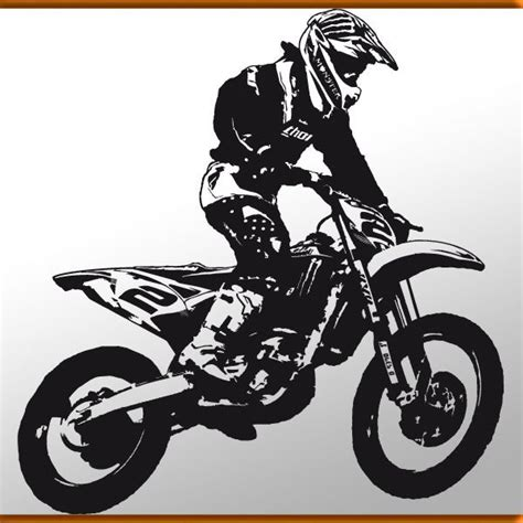 Cross Motorrad Wandtattoo by Wandtattoo Crosser 1 Motorrad Moto Cross Bike Sport Gp