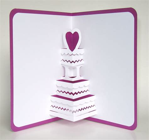pop up anniversary card wedding cake 3d pop up greeting card anniversary cake by