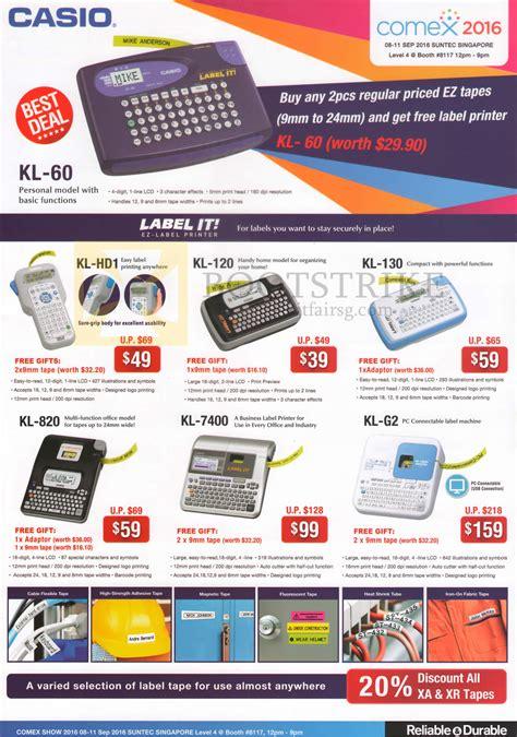 Casio Ez Label Label It Kl 60 L Label Printer casio labellers label it ez label kl 60 hd1 120 130 820 7400 g2 comex 2016 price list